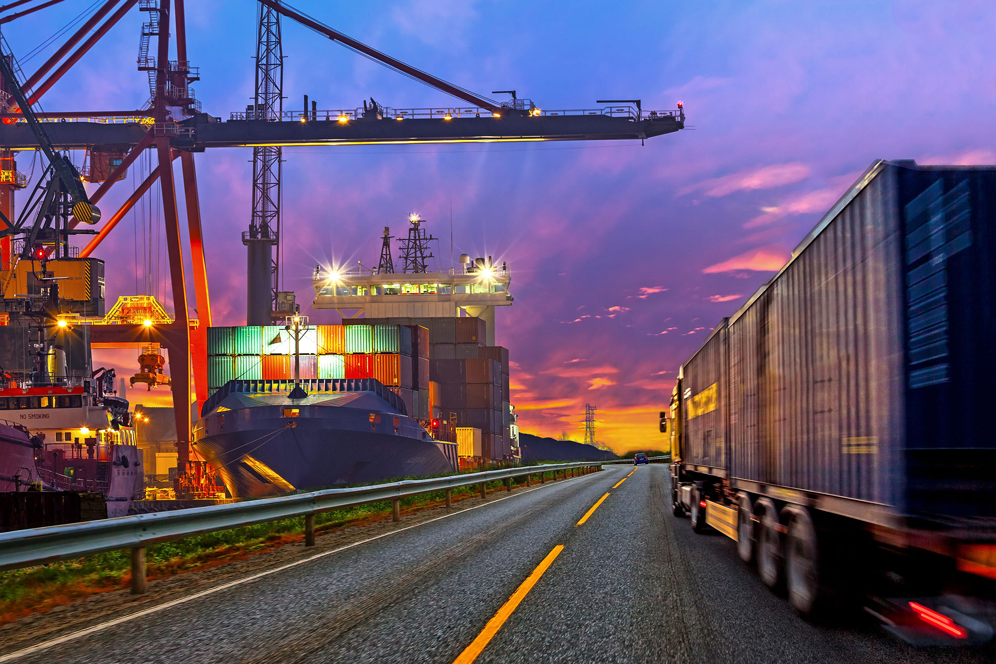 a freight transportation company participates in supply chain financing